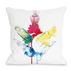 Rainbow Perfumes Throw Pillow