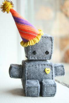 itty bitty birthday robot...