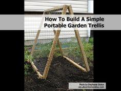 How To Build A Simple Portable Garden Trellis