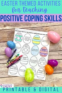 Are you a school counselor doing distance learning? These Easter themed coping skills activities come in printable and digital format which make them great for hybrid or virtual lessons. The activities are still fun and engaging and will help your students develop positive coping skills they can use to help them with anger management or even anxiety. Coping Skills Activities, Emotions Activities, Social Skills Lessons, Spring School, Feelings And Emotions, School Counselor, School Resources, Anger Management, Student Learning