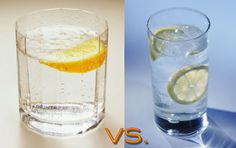 Sparkling vs plain h2o. Good to know because I drink sparkling like a madwoman these days.