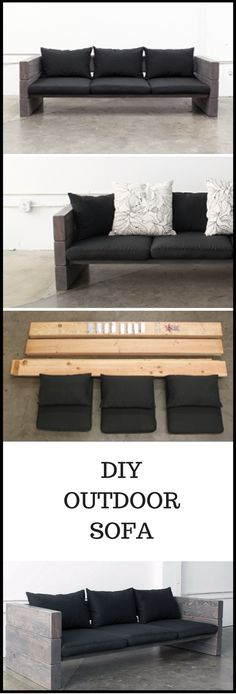 DIY Outdoor Sofa. Great Project, watch the video