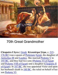 1a 215 Cleopatra I Syria 215, 70th ggrandmother.jpg