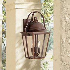 "Rivendale Court 19"" High Bronze Outdoor Wall Light - #U5662 