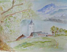Aquarel Oostenrijk door Riet de Paauw