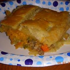 Meat Pie, Southern Version Allrecipes.com i added a cup of plain yogurt and a dash of white wine..yummy!