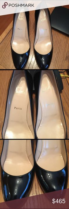 Christian Louboutin shoes, excellent condition! Christian Louboutin shoes, excellent condition! Only worn a few times, no damage to leather or heel.  Not available for bundle. Christian Louboutin Shoes Heels