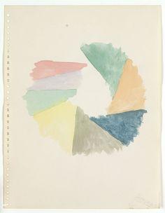 cacaotree:リチャード·タトルダラス(9鉛筆の線)、紙の上で1970年の水彩画と黒鉛