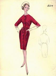 Colección en miniatura del archivo de la elegante tienda de Nueva York Bergdorf Goodman . Modelos de los diseñadores más famosos, ...
