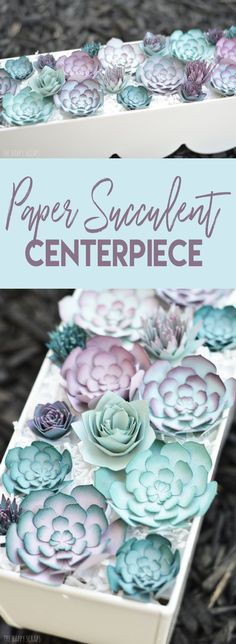 Create a stunning Paper Succulent Centerpiece with the Cricut Explore Air 2 that doesn't need to be watered or taken care of. It's a great piece for anywhere in the home!
