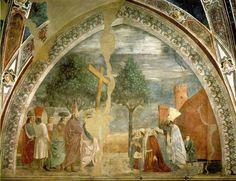 L'Esaltazione della Croce è un affresco (390x747 cm) di Piero della Francesca e aiuti, facente parte delle Storie della Vera Croce nella cappella maggiore della basilica di San Francesco ad Arezzo, databile al 1458-1466. Si tratta della scena conclusiva del ciclo, dipinta nella lunetta superiore sinistra, sul lato opposto della lunetta della Morte di Adamo da cui il ciclo comincia.