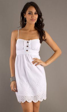 Short White Casual Summer Dress , cheap a line wedding dresses