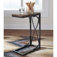 Shop for the Ashley (Signature Design) Golander C-Table Chair Side End Table with Metal Base at Johnny Janosik - Your Delaware, Maryland, Virginia, Delmarva Furniture, Mattress & Outdoor Store Table Decor Living Room, Living Room End Tables, Sofa End Tables, Living Furniture, Accent Furniture, Side Tables, Occasional Tables, Furniture Logo, Furniture Stores