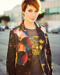 Felicia Day - i want her leather galaxy jacket