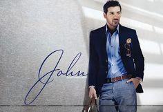 John Abraham In Navy styles Blazer Photoshoots