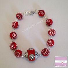Berry sparkle bracelet by handmadebymand72 on Etsy