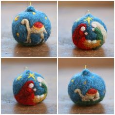 COMPLETE SET Needle Felted Christmas by CloudBerryCrafts on Etsy