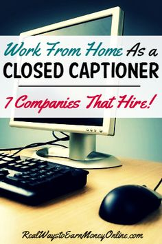 Vitac- Did you know lots of closed captioners work at home? This is a job you can do if you have the skills and experienced needed. For your reference, here's a list of seven companies that regularly hire closed captioners. Captioning Jobs, How To Make Money, How To Become, Close Caption, 7 Places, Job Career, Find Work, Close To My Heart, Work From Home Jobs