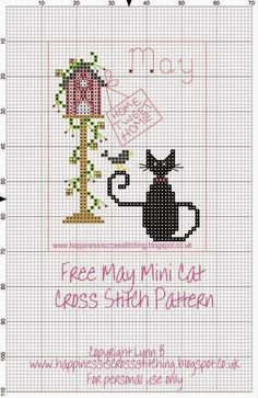 http://happinessiscrossstitching.blogspot.com.es/p/mini-cat-cross-stitch-freebies.html