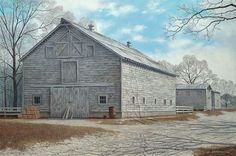 He's from my hometown of Denmark, SC. And I will hang his artwork above my table in the entry way. Jim Harrison, American Country, Covered Bridges, American Artists, Country Life, Denmark, Original Paintings, Entryway, Barn