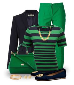 A fashion look from March 2015 featuring short sleeve tops, navy blazers and cigarette pants. Browse and shop related looks. 60 Fashion, Work Fashion, Fashion Outfits, Womens Fashion, Style Casual, Preppy Style, My Style, Stylish Work Outfits, Classy Outfits