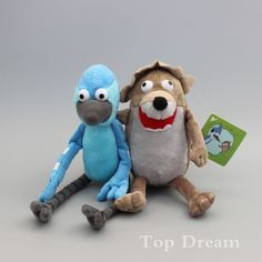 New Arrival 2 Regular Show Rigby and Mordecai Plush Toy Soft Doll 7  9 HOT ac57a0ab9