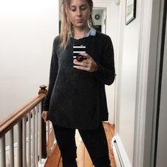 Stitch Fix Winter 2017 Grey Sweatshirt LNA Burgess Swing Knit Pullover