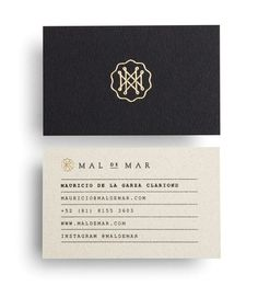 Lines Organization Business Card With Gold Foil Detail For On Line Art Design Architecture And Photography Journal Mal De Mar Designed By Face