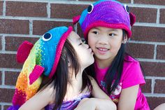 TFA Tuesday - pfong001's rainbow bright fish hats (alive) — Tanis Fiber Arts