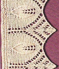 Kötött levél szegélyminta – Kötni jó – kötés, horgolás leírások, minták, sémarajzok Knitting Patterns, Knit Crochet, Crocheting, Knits, Dots, Knitting Stitches, Knit Patterns, Chrochet, Cable Knitting Patterns
