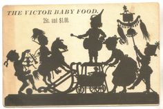 Victor Baby Food Silhouette Trade Card 1880