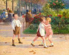 Victor Gabriel Gilbert - Enfants au parc