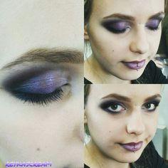 Smokey eyes black&violet ♥~