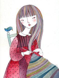 Pinzellades al món: Tricotant contra el fred / Tricotando contra el frío / Knitting against cold