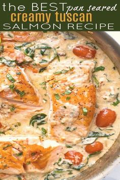 #Best #recipes #for #dinner #healthy #dinner The BEST Pan Seared Creamy Tuscan Salmon Recipe is a gourmet meal that is easier than it looks Full of flavor this healthy omega3 Salmon in a creamy herb and tomato sauce is the perfect dinner  Seafood  Fishbrp classfirstletterwelcome to the website with the biggest content about flavorpIf you dont like everything dinner part of the icon we offer you when you read this icon is exactly the features you are looking for you can see In the figure The…