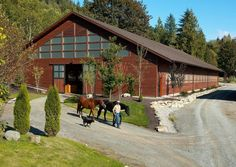 Our Western Red Cedar Siding was used on this custom Horse Arena crafted by RGN Construction