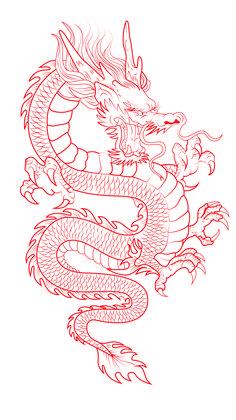 Dragon Tattoo Outline, Dragon Tattoo Stencil, Dragon Tattoo Drawing, Red Dragon Tattoo, Dragon Tattoo For Women, Japanese Dragon Tattoos, Dragon Tattoo Designs, Tattoo Stencils, Chinese Dragon Drawing