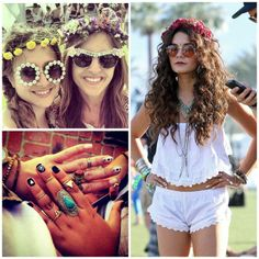 sunglasses, nail art and festive outfits.