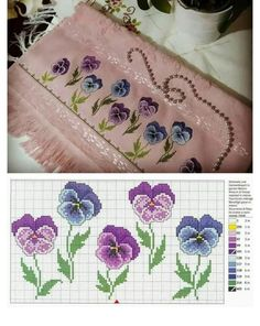 This Pin was discovered by zeh Butterfly Cross Stitch, Cross Stitch Heart, Beaded Cross Stitch, Cross Stitch Flowers, Cross Stitch Embroidery, Hand Embroidery, Cross Stitch Designs, Cross Stitch Patterns, Embroidered Towels