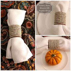 Our Pinteresting Family: Pottery Barn Knock Off Napkin Rings