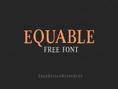 Equable free retro font, an exclusive freebie from Free Design Resources is here for all of us. A very classy handmade font with imperfect natural curves but still looking very nice and neat. Therefore, we've created this font with vintage vibe in mind t…