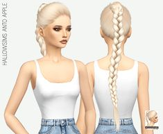 Miss Paraply: Anto`s Apple hair retextured  - Sims 4 Hairs - http://sims4hairs.com/miss-paraply-antos-apple-hair-retextured/