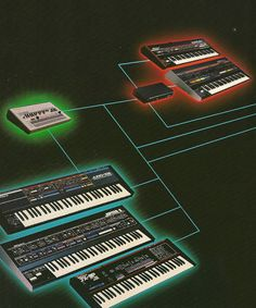 Roland Synths connected via Roland MPU-401