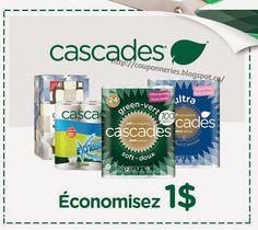 Coupons et Circulaires: 1,00$ sur Cascades, tout produit