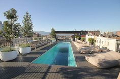 Vancouver Private Roof Top Deck with a glass bottomed swimming pool