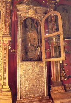 The mummified body of St Gerasimos in Cephalonia, Greece. (I had a close encounter!)