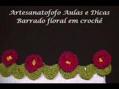 Barrado floral em crochê - CROCHÊ 16
