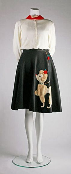 A poodle skirt and matching collar from the 1950s in the permanent collection of The Children's Museum of Indianapolis, Indianna. (Photographed by Michelle Pemberton for the museum.)