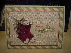 christmas card Stamped Christmas Cards, Christmas Paper Crafts, Christmas Cards To Make, Xmas Cards, Holiday Cards, Christmas 2017, Scrapbooking, Scrapbook Cards, Spellbinders Cards