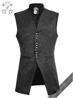 Y-642 Black Cardinal vest by punk rave. Men's waistcoat | www.Fantasmagoria.eu - Gothic, Steampunk, Metal Fashion shop. All goods are in stock. Worldwide shipping! Retail and Wholesale